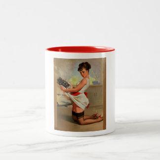 Vintage Retro Gil Elvgren Baker Pin Up Girl Coffee Mug