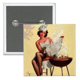 Vintage Retro Gil Elvgren Barbeque Pin Up Girl