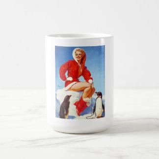 Vintage Retro Gil Elvgren Christmas Pin UP Girl Basic White Mug