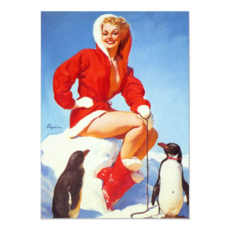 Vintage Retro Gil Elvgren Christmas Pin UP Girl Card