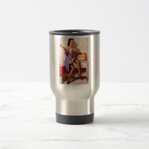 Vintage Retro Gil Elvgren Decorator Pin Up Girl Coffee Mugs
