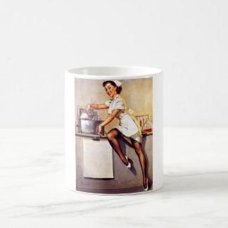 Vintage Retro Gil Elvgren Nurse Pin Up Girl Basic White Mug