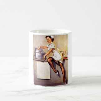 Vintage Retro Gil Elvgren Nurse Pin Up Girl Classic White Coffee Mug