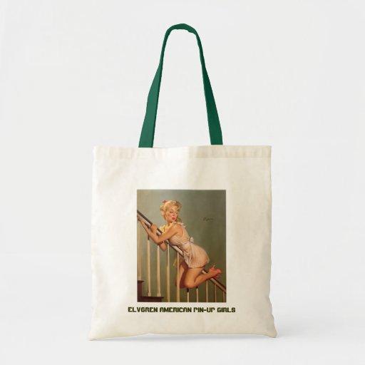Vintage Retro Gil Elvgren Pin Up Girl Budget Tote Bag
