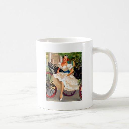 Vintage Retro Gil Elvgren Pin Up Girl Coffee Mug