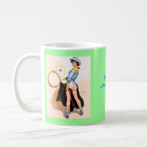Vintage Retro Gil Elvgren Pin Up Girl Coffee Mugs