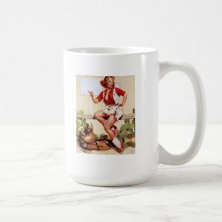Vintage Retro Gil Elvgren Pin Up Girl Mug