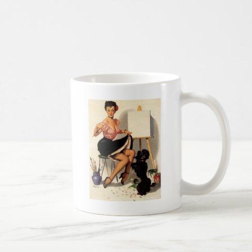 Vintage Retro Gil Elvgren Pin Up Girl Mugs