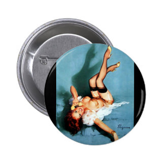 Vintage Retro Gil Elvgren Telephone Pinup girl 2 Inch Round Button