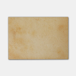 Vintage Retro Gold Brown Paper Parchment Post-it Notes