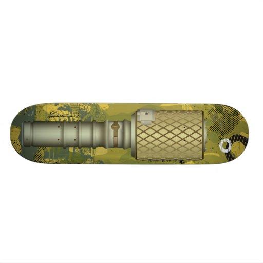 Vintage Retro Grenade Bomb Skateboard Deck