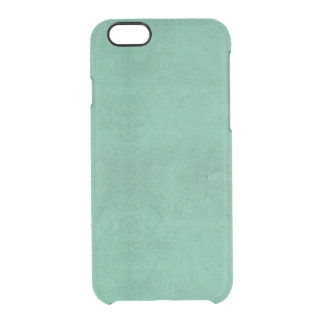 Vintage Retro Grunge Teal Green Abstract Clear iPhone 6/6S Case