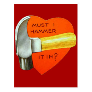 Vintage Retro Hammer Valentine Card