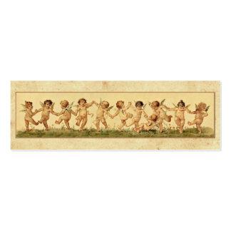 Vintage Retro Happy Dancing Baby Angels Mini Business Card