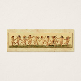 Vintage Retro Happy Dancing Baby Angels Mini Business Card
