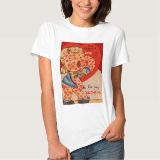 Vintage Retro Heart Rash Valentine Card Tee Shirts