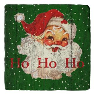 Vintage Retro Ho Ho Ho Santa Claus Trivet