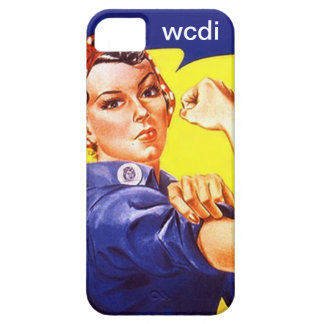 Vintage Retro iPhone 5 Rosie the Riveter wcdi txt iPhone 5 Cases