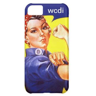 Vintage Retro iPhone 5 Rosie the Riveter wcdi txt iPhone 5C Case