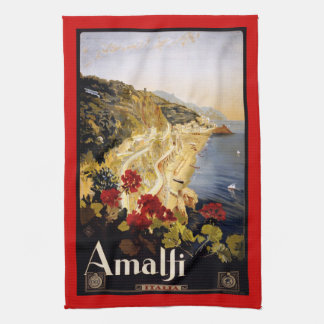 Vintage retro Italian poster Kitchen Towel