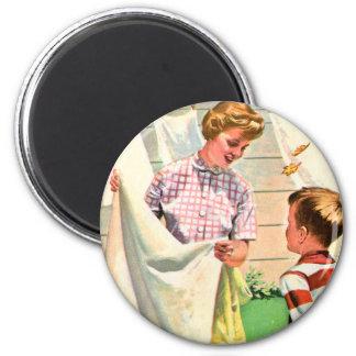 Vintage Retro Kitsch 40s Advert Art Laundry Wash Magnet