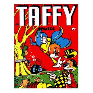 Vintage Retro Kitsch 40s Taffy Comic Book Postcard