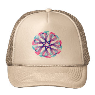 Vintage Retro Kitsch 60s Spiro Graphic Pen Design Trucker Hat