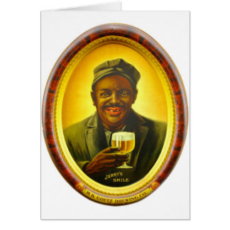 Vintage Retro Kitsch Beer Ad Jerry's Smile Goetz Card