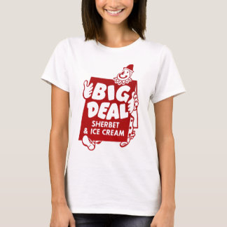Vintage Retro Kitsch Big Deal Sherbet & Ice Cream T-Shirt