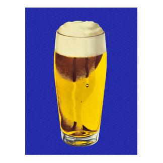 Vintage Retro Kitsch Brewery Beer Bier Glass Postcard