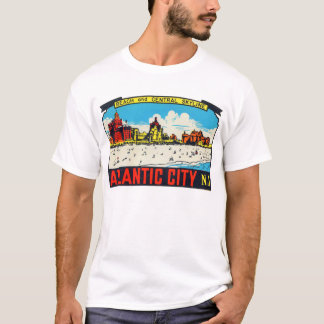 Vintage Retro Kitsch Decal Atlantic City, NJ T-Shirt