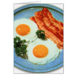 Vintage Retro Kitsch Food Bacon And Eggs Greeting Card