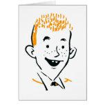 Vintage Retro Kitsch Irish Redhead 'Ginger Boy' Greeting Card