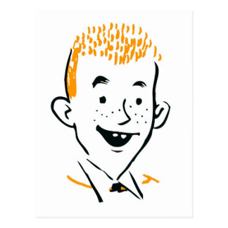Vintage Retro Kitsch Irish Redhead 'Ginger Boy' Postcard