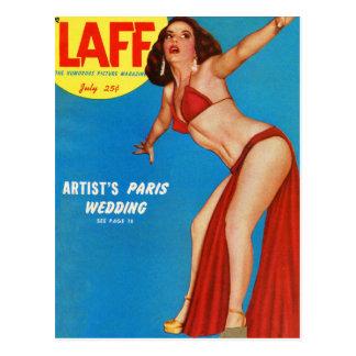 Vintage Retro Kitsch Mens Man Magazine Pin Up Laff Postcard