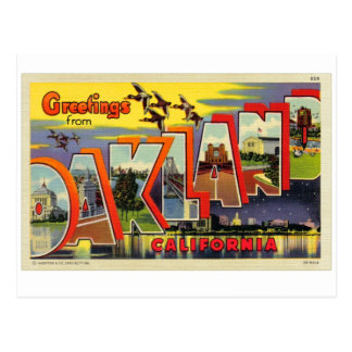 Vintage Retro Kitsch Oakland Big Letter Postcard