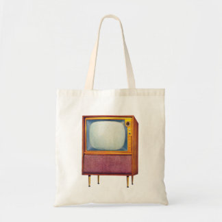 Vintage Retro Kitsch TV Television Set Tote Bag