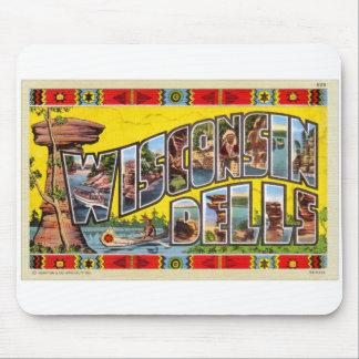 Vintage Retro Kitsch Wisconsin Dells Postcard Mouse Pad