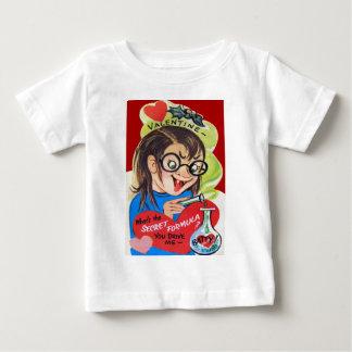 Vintage Retro Mad Scientist Valentine Card Baby T-Shirt