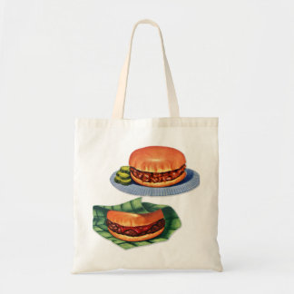 Vintage Retro Menu Hamburger Cheeseburger