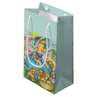 Vintage/Retro Mother's Day Small Gift Bag