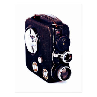 Vintage | Retro Movie Camera Postcard