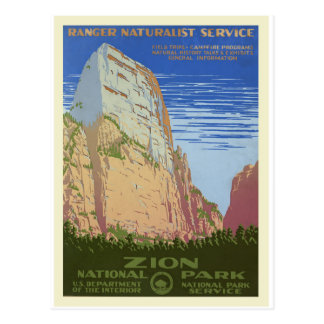 Vintage Retro National Park Travel Tourism Postcard