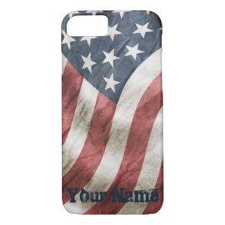 Vintage Retro Old Glory US Flag Personalized iPhone 8/7 Case