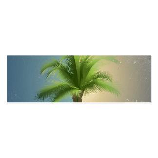 Vintage Retro Palm Tree Turquoise Blue Cream Sepia Business Card