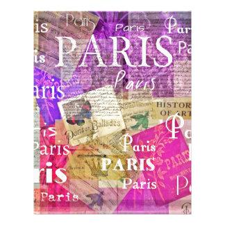 Vintage Retro Paris Eiffel Tower ART Letterhead Template