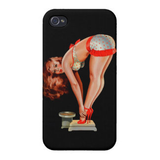 Vintage Retro Peter Driben Pinup Girl on Scale iPhone 4/4S Cases