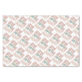 Vintage/Retro Pink Kitten Tissue Paper