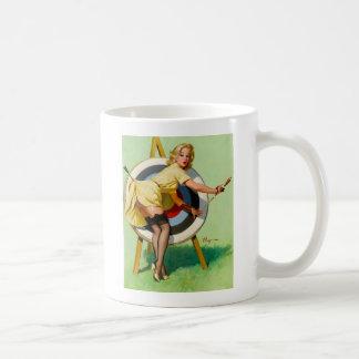 Vintage Retro Pinup Art Gil Elvgren Pin Up Girl Basic White Mug
