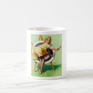 Vintage Retro Pinup Art Gil Elvgren Pin Up Girl Classic White Coffee Mug